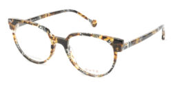 Black-based multicolored acetate frame, with matching color acetate temples