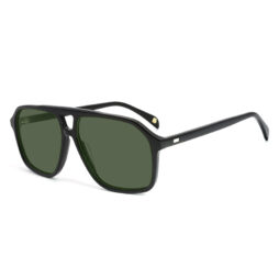 Black, acetate frame and temples with G15 color polarized lenses