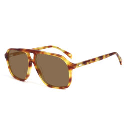 Brown tartaruga, acetate frame and temples with brown color polarized lenses f